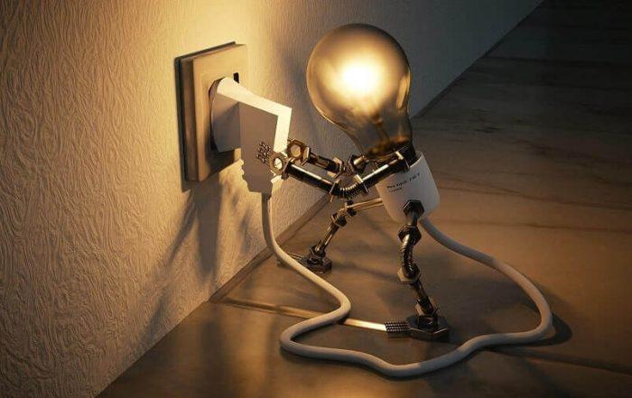 Light bulb person