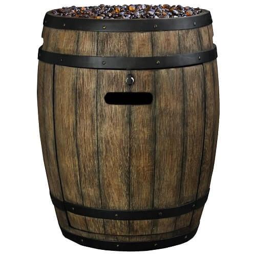Whiskey Barrel Propane Gas Patio Heater