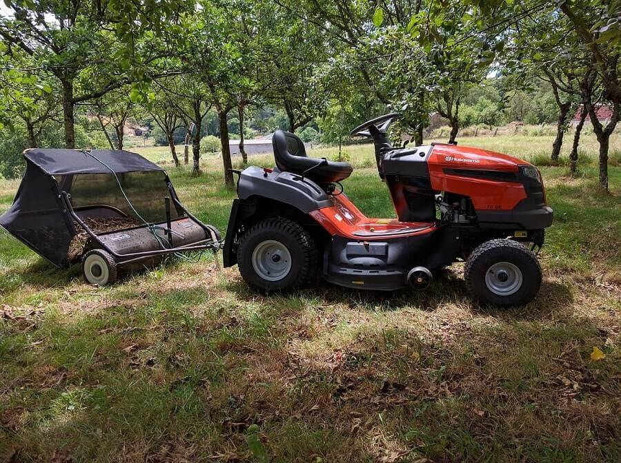 Lawn tractor and sweeper