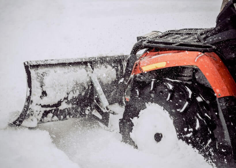 Snow Plow on an ATV