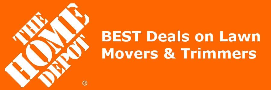homedepot banner lawnmover deals