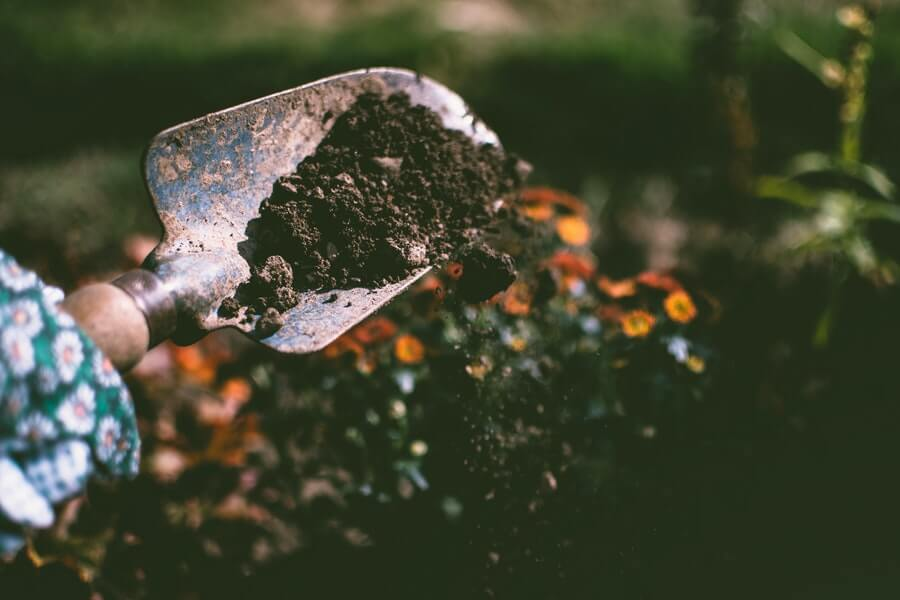 small garden hand trowel